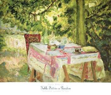 Table Set in a Garden poster print by Pierre Bonnard
