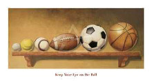 Keep Your Eye On The Ball poster print by Lisa Danielle
