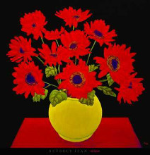 Red Daisies poster print