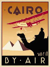 Cairo By Air poster print by Brian James