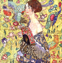 Lady with Fan poster print by Gustav Klimt