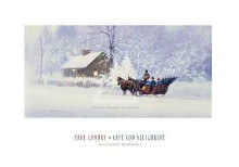 Cape Cod Sleighride poster print by Paul Landry