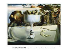 Apparition Of Face And Fruit Dish On A B poster print by Salvador Dali