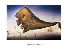 Sleep poster print by Salvador Dali