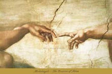 Creation of Adam (Detail) poster print by  Michelangelo