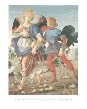 Tobias And The Angel poster print by  Workshop Of Verrocchio