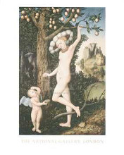 Cupid Complaining to Venus poster print by  Cranach the Elder