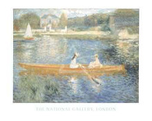Boating On The Seine poster print by Pierre-Auguste Renoir