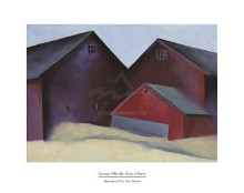Ends Of Barns poster print by Georgia O'Keeffe