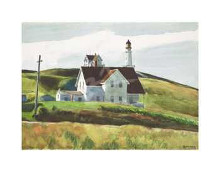 Hill And Houses, Cape Elizabeth, Maine, poster print by Edward Hopper