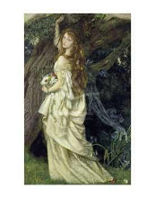 Ophelia, Ca 1865 poster print by a Hughes