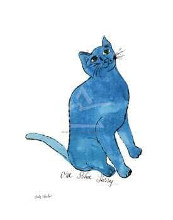 Untitled (One Blue Pussy), C 1954 poster print by Andy Warhol