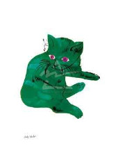 Untitled (Green Cat), C 1956 poster print by Andy Warhol