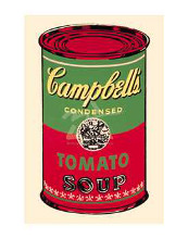 Campbell's Soup Can, 1965 (Green & Red) poster print by Andy Warhol