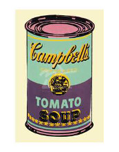 Colored Campbell's Soup Can, 1965 (Green & Purple) poster print by Andy Warhol