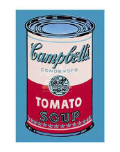 Campbell's Soup Can, 1965 (Pink & Red) poster print by Andy Warhol