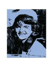 Jackie, 1964 (Blue) poster print by Andy Warhol