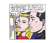 Masterpiece, 1962 poster print by Roy Lichtenstein