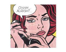 Ohhhalright, 1964 poster print by Roy Lichtenstein