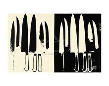 Knives, C 1981-82 (Cream And Black) poster print by Andy Warhol