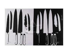 Knives, C 1981-82 (Silver And Black) poster print by Andy Warhol