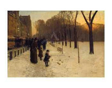 Boston Common At Twilight, 1885-86 poster print by Childe Hassam
