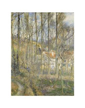 Cote Des Boufs At L'hermitage poster print by  Pissarro