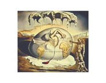 Geopoliticus Child Watching The Birth Of poster print by Salvador Dali