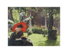 Afternoon In The Cluny Garden, Paris, 18 poster print by  Curran