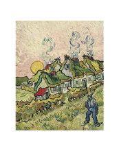 House And Figure, 1890 poster print by Vincent van Gogh