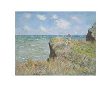 Cliff Walk At Pourville, 1882 poster print by Claude Monet