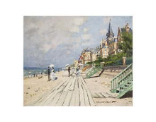 Beach At Trouville, 1870 poster print