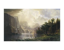 Among The Sierra Nevada, California, 186 poster print by Albert Bierstadt