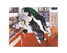 Birthday poster print by Marc Chagall