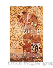 Fulfillment poster print by Gustav Klimt