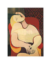 Dream poster print by Pablo Picasso