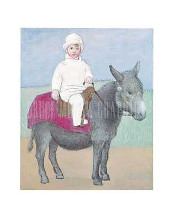 Paulo on a Donkey poster print by Pablo Picasso