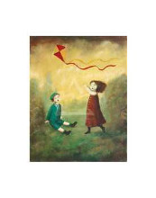 Children Playing Kite poster print by  Mackey