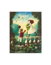 Children Playing Garland poster print by  Mackey