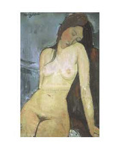 Seated Nude, Ca 1917 poster print by Amedeo Modigliani