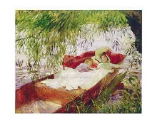 Two Women Asleep In A Punt poster print by  Sargent
