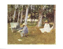 Monet Painting poster print by  Sargent