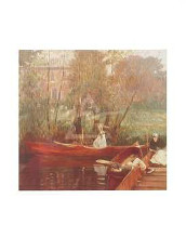 Boating Party poster print by  Sargent