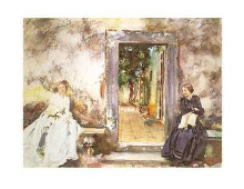 Garden Wall poster print by John Singer Sargent