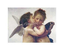 First Kiss poster print by William-Adolphe Bouguereau