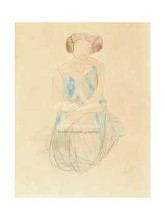 Seated Woman In A Dress, After 1900 poster print by  Rodin