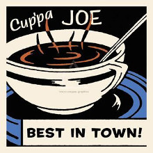 Cup'pa Joe Best in Town poster print by  Retro Series