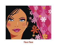 Flower Power poster print by  Reinmuth