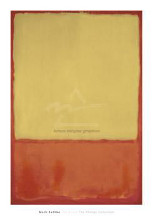 Ochre (Ochre, Red On Red), 1954 poster print by Mark Rothko