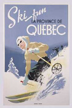 Ski Fun La Province De Quebec, 1948 poster print by  Unknown